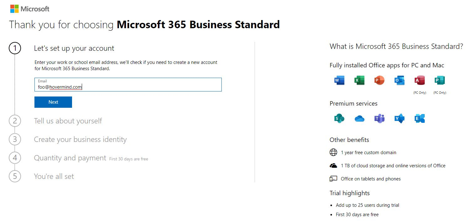 Get SharePoint Online and PowerBI Services Step 1